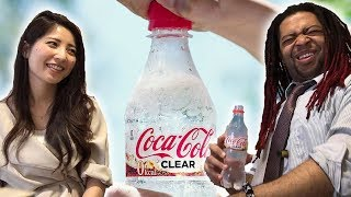 Trying CLEAR COKE?! Japanese drink exclusive!! (TASTE TEST!!!)