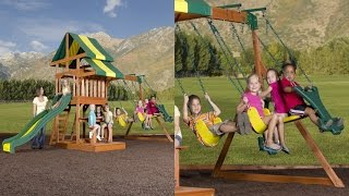 Backyard Discovery Independence All Cedar Wood Playset - The Best Wooden Swing Set For The Price