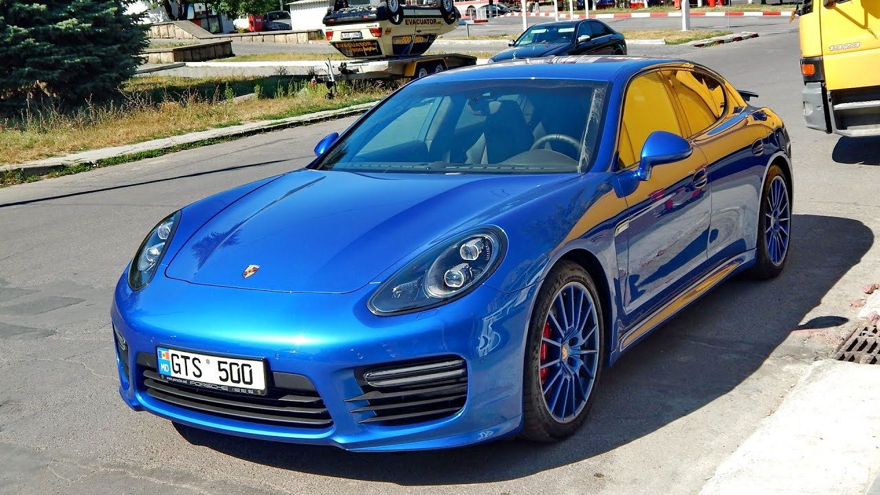 Sapphire Blue Metallic Porsche Panamera Gts Mkii Start Up