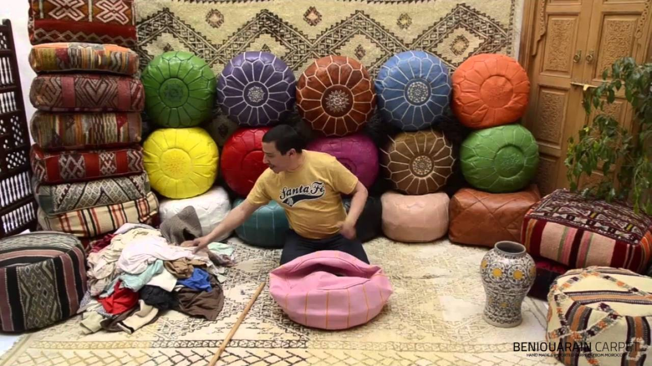 How stuff moroccan ottoman pouf stuffing pouf guide youtube solutioingenieria Images