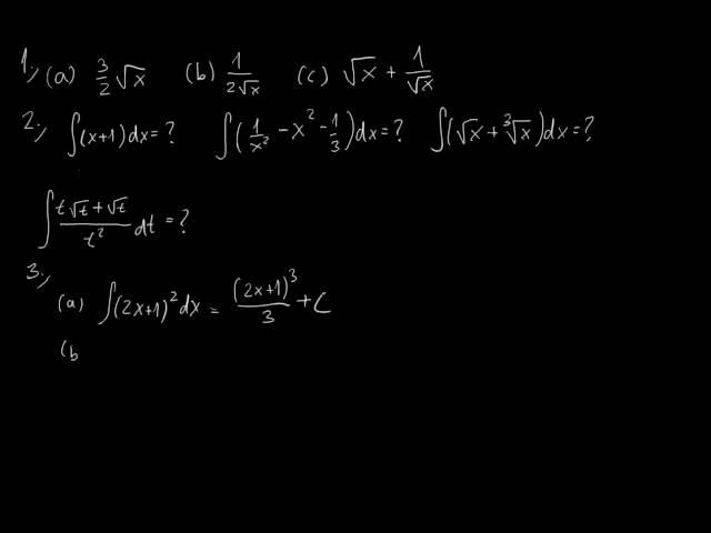 Primitív függvények - Feladatok