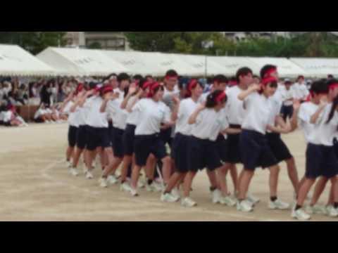 平成28年度広島県立高陽高校体育祭3年生フォークダンス その1