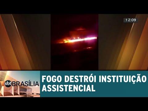 Fogo destrói instituição assistencial Santos Inocentes | SBT Brasília 07/06/2018