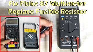 Repeat youtube video How To Fix Fluke 87 Multimeter - Replace Fuse & Fusible Resistor