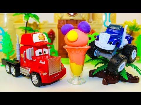 Мультики про машинки Вспыш и чудо машинки Крушила и Мороженое Мультфильмы для детей ТАЧКИ