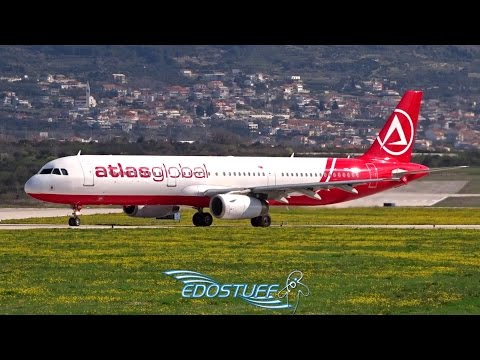 Strong Wind Takeoff! AtlasGlobal Airbus A321-231 TC-ATH - Split Airport LDSP/SPU