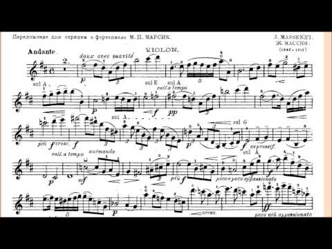 Massenet's Meditation Piano Accompaniment for Violin