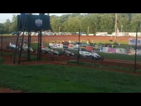 USAC Sprint Car Heat 4  Bloomington Speedway