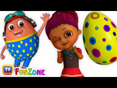 Thumbnail: Surprise Eggs Gumball Machine Ball Pit Show for Kids | Learn YELLOW Colour | ChuChuTV Funzone 3D