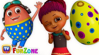 Surprise Eggs Gumball Machine Ball Pit Show for Kids | Learn YELLOW Colour | ChuChuTV Funzone 3D thumbnail