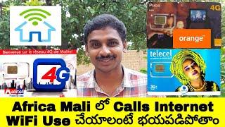 Africa Mali Mobile Sim cards Calls Internet WiFi Cost Uma Telugu Traveller