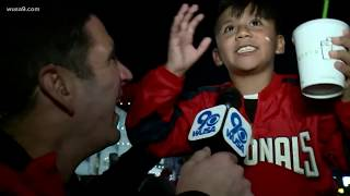 This 9-year-old's first baseball game was Nationals NLCS clinching win to go to the World Series