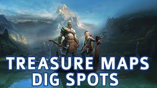 God of War - All Treasure Map Locations & Dig Spots Solutions (Treasure Hunter Trophy Guide)