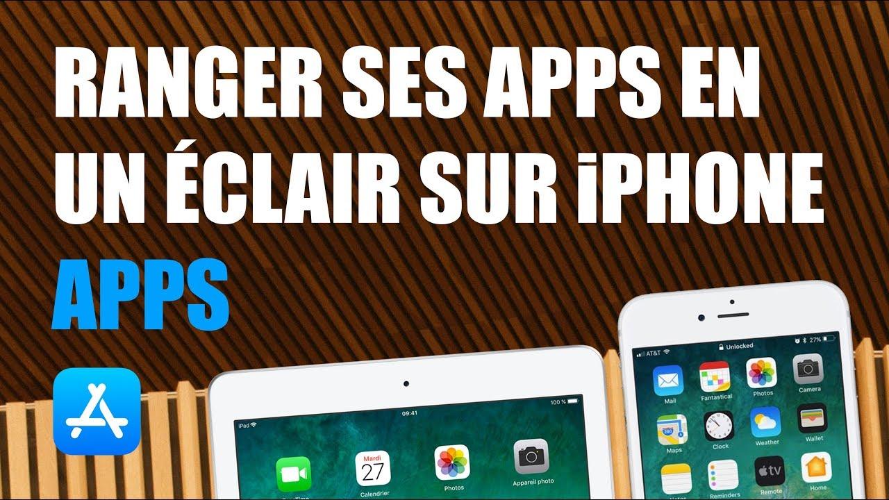 Astuce Ranger Ses Apps En Un Eclair Dans Un Dossier Sur Iphone Ou Ipad Youtube