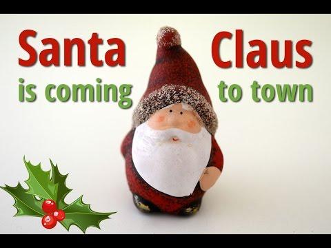 Santa Claus is Coming to Town | Free Christmas Carols (lyrics video for karaoke)