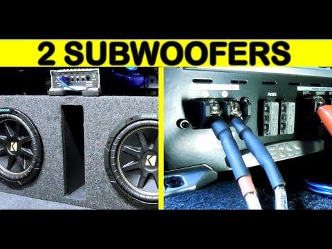 Instalacion de amplificador y 2 subwofers con converidor alta y baja (version extendida)