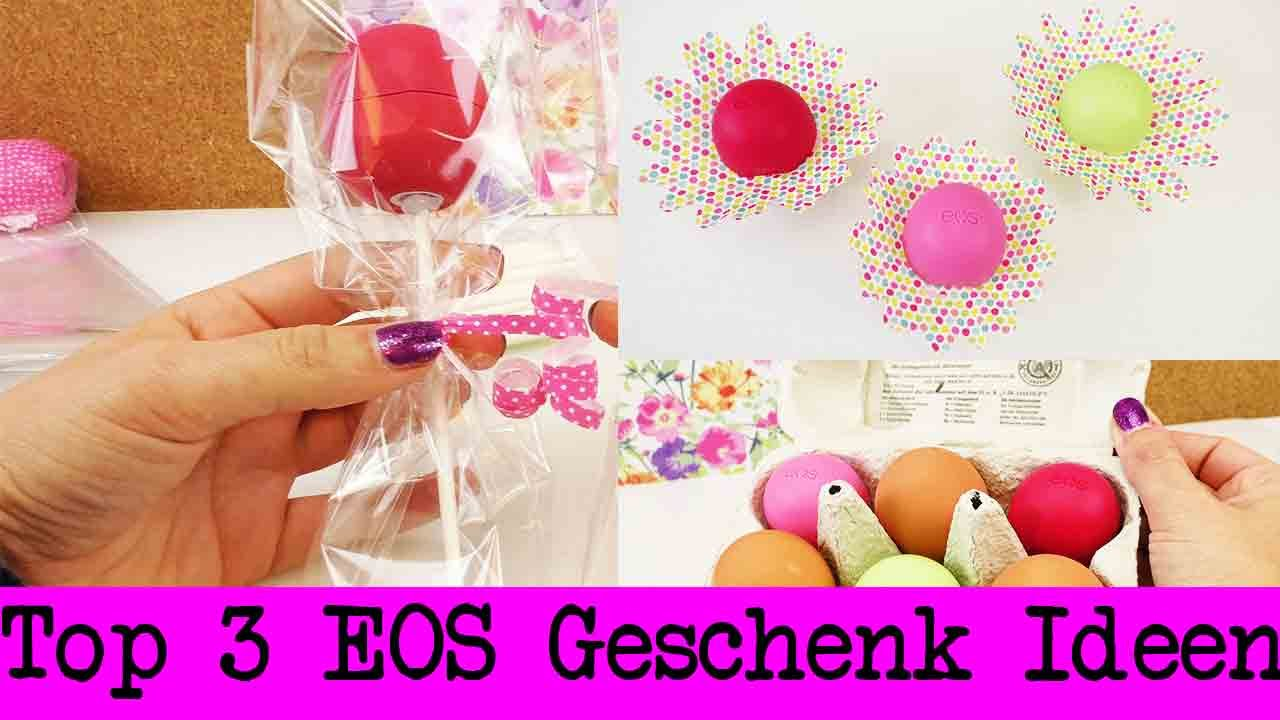 eos lipbalm als geschenk 3 s e ideen tolle ideen f r kreative geschenke freundin youtube. Black Bedroom Furniture Sets. Home Design Ideas