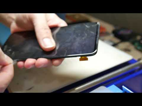 Samsung A70 - Дисплей как на iphone X, а переклейка сложнее. Замена стекла.