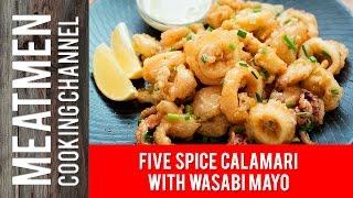 Five Spice Calamari with Wasabi Mayo - 芥末鱿鱼圈
