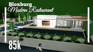 (85K) Modernized Restaurant SpeedBuild - Bloxburg ROBLOX