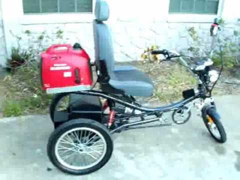 hybrid electric trike 130 miles per gallon bicycle. Black Bedroom Furniture Sets. Home Design Ideas