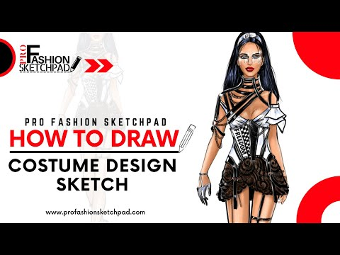 How To Draw Stage Costume Design Sketch with Pro Fashion Sketchpad Fashion Sketchbook Series
