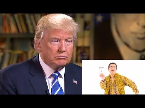 Donald Trump Reacts to PPAP Pen Pineapple Apple Pen