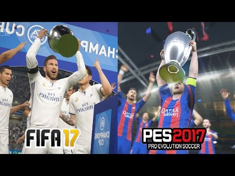 FIFA 17 vs PES 2017 UEFA CHAMPIONS LEAGUE FINAL Comparison