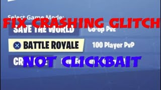 Fix Fortnite Crashing Glitch, Season 8 (March 2019)
