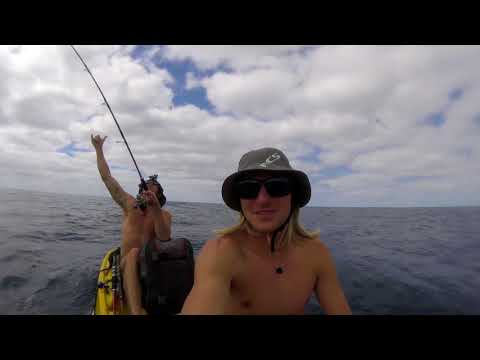 Norfolk Island Kayak Fishing for Yellowtail Kingfish and Red-Throat Emperor HD