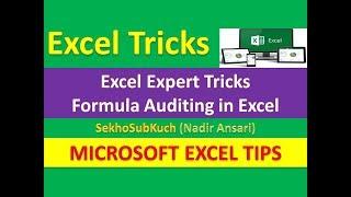 Excel Expert Tricks : Formula Auditing in Microsoft Excel [Urdu / Hindi]