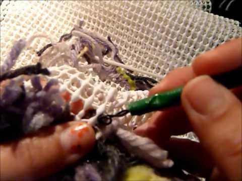 Reciclaje hacer alfombra de lana make wool rug for Como hacer alfombras en bordado chino