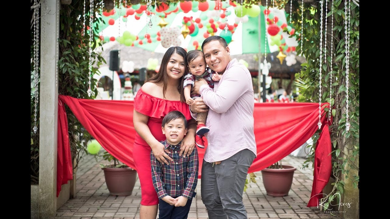 Christmas Themed 1st Birthday Party.Nicolo S Mickey Mouse Christmas Themed 1st Birthday Party