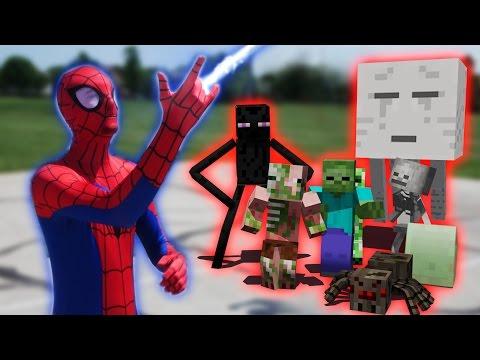 Monster School in Real Life Episode 18: SuperHero! Spiderman - Minecraft Animation