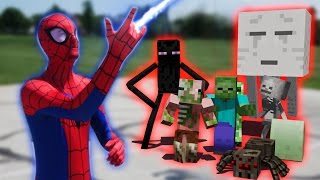 Monster School in Real Life Episode 18: SuperHero! Spiderman - Minecraft Animation