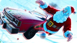Next Car Game Wreckfest - SANTA THROWING DESTRUCTION! (Throw- A-Santa Mini-game)