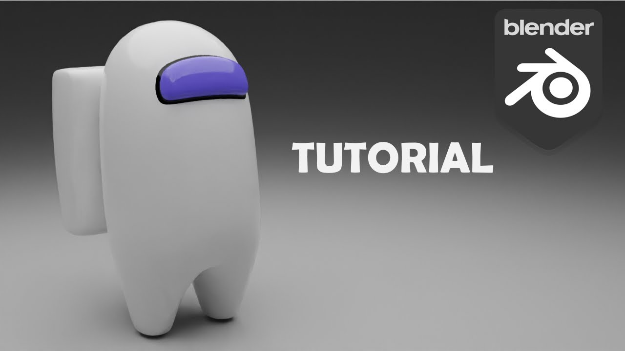 How to make 3D Among Us game character in Blender 2.9 in 5 minutes - Blender Tutorial