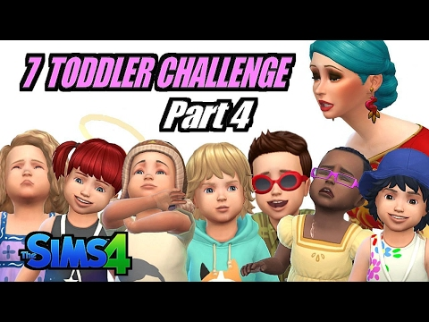 The Sims 4 Seven Toddler Challenge//Part 4 - VAMPIRES ARE NOT WELCOME!