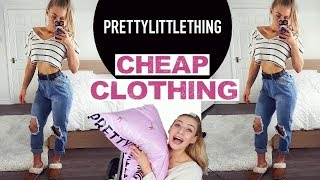 PRETTY LITTLE THING UNBOXING HAUL |  TRY ON & HONEST REVIEW
