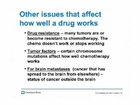 Chemotherapy for brain tumors