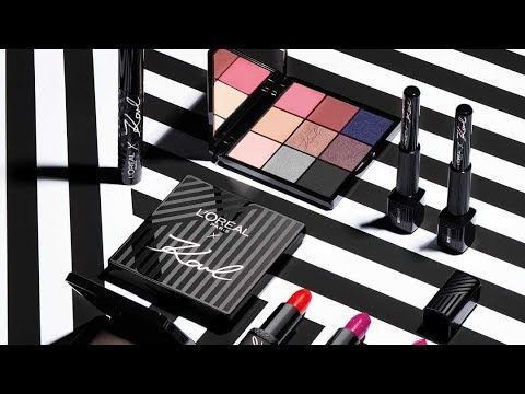 L'Oreal X Karl Lagerfeld Makeup Collection Swatches, Eye Look And Review