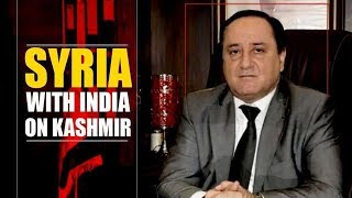 Syria supports India, claims Kashmir is internal matter |NewsX