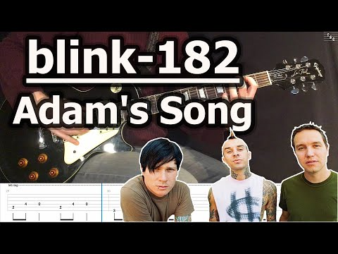 Blink-182 - Adam's Song (Guitar Cover Tutorial with Tab)