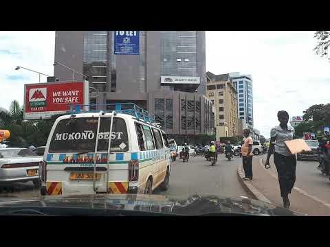 Kampala city centre by car