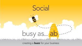 B gibi sosyal medya ile bir vızıltı oluşturma meşgul