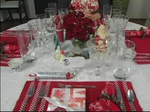 Set The Table For Christmas Dinner