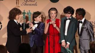 Stranger Things - SAG Awards 2017 - Full Backstage Interview