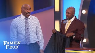 Steve Harvey meets Marvin! | Family Feud