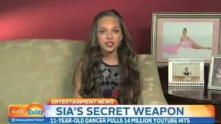 Maddie Ziegler Interview at Today Show - About Being In Sia