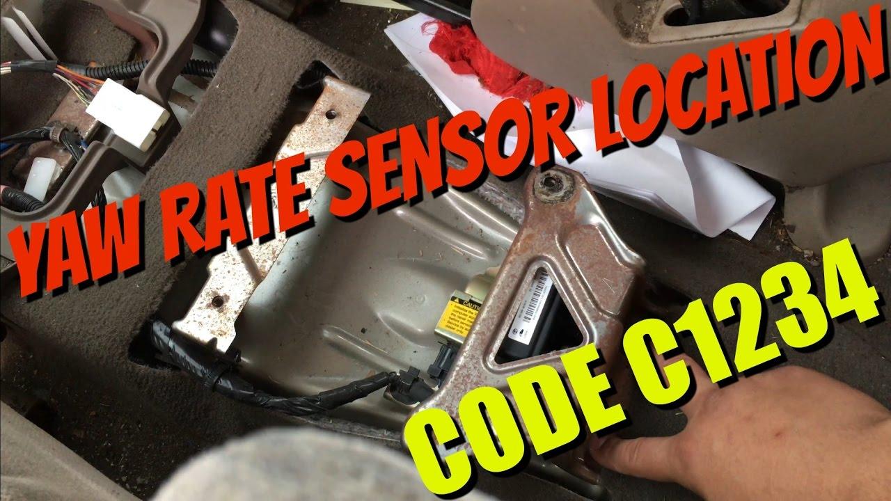110 Circuit Wiring Diagram Toyota Sequoia Yaw Rate Sensor Location Code C1234 Youtube